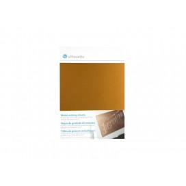 แผ่นโลหะสำหรับแกะสลักสีทอง (12.7 ซม. x 17.7 ซม.) (1 / แพ็ค)