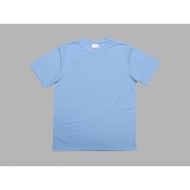 เสื้อยืดผู้ชายคอกลมแขนสั้นสีฟ้า