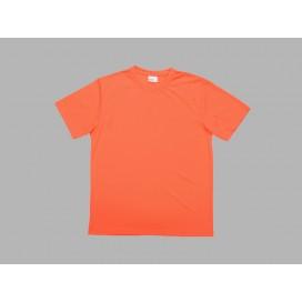 เสื้อยืดผู้ชายคอกลมแขนสั้นสีส้ม