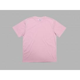 เสื้อยืดผู้ชายคอกลมผ้าคัตตอนสีชมพู