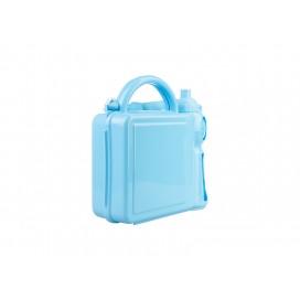 กล่องใส่อาหารกลางวันพลาสติกสีฟ้าพร้อมขวดน้ำ  (10 อัน / แพ็ค)