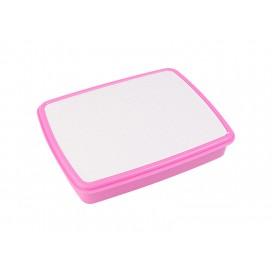 กล่องข้าวพลาสติก สีชมพูอมม่วง (10/pack)