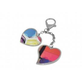 พวงกุญแจแบบแขวนรูปหัวใจคู่