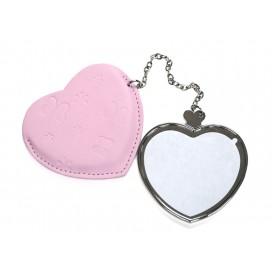 กระจกรูปหัวใจมีด้ามจับพร้อมซองหนัง (10 ชิ้น/แพ็ค)