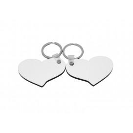 พวงกุญแจไม้รูปหัวใจคู่รัก (10ชิ้น/แพ็ค)