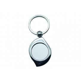 พวงกุญแจสแตนเลสทรงใบไม้ (10ชิ้น/แพ็ค)