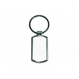 พวงกุญแจสแตนเลสทรงสี่เหลี่ยมหัวโค้ง(10ชิ้น/แพ็ค)