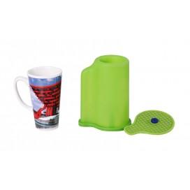 ยางรีดร้อนแก้วทรงกรวย 3D สำหรับแก้ว 12-17oz