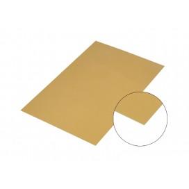 แผ่นอลูมิเนียมกระจกสีทอง10*15Cm.(10 ชิ้น/แพ็ค)