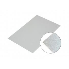 แผ่นอลูมิเนียมสีเงินมุก10*15Cm.(10 ชิ้น/แพ็ค)