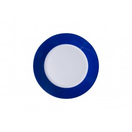 "8"" Plate w/ Blue Edge(26/pack)"