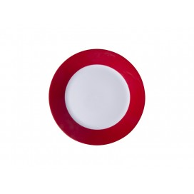 "8"" Plate w/ Red Edge(26/pack)"