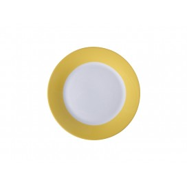 "8"" Rim Plate w/ Yellow Edge(26/pack)"