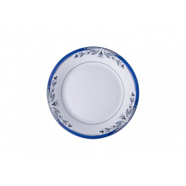 "8"" Rim Plate w/ Blue Flower(26/pack)"