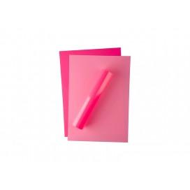 FOREVER FLEX แผ่นฟลอยสีชมพูสะท้อนแสง  สำหรับงานเลเซอร์/LED