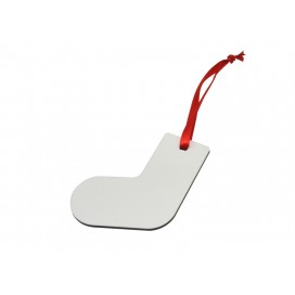 ไม้MDFสำหรับแขวนตกแต่งต้นคริสมาสต์ รูปถุงเท้า
