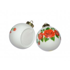 จี้เซรามิกตกแต่งลูกบอล สำหรับต้นคริสมาส(10ชิ้น/ลัง)