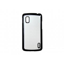 เคส Google Nexus 4 (พลาสติก, สีดำ) (10 ชิ้น/แพ็ค)