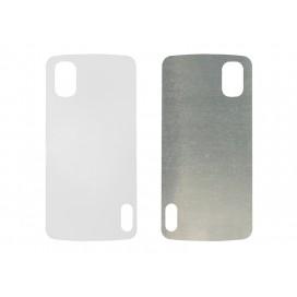แผ่นอลูมิเนียมใช้พิมพ์ภาพสำหรับ Google Nexus 4 Cover (10 ชิ้น/แพ็ค)