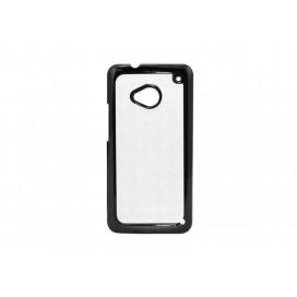 เคส HTC M7 (พลาสติก, สีดำ) (10 ชิ้น/แพ็ค)