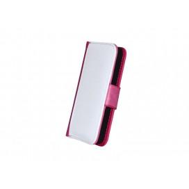 ซองหนังIP5 ฝาเปิด-ปิดสีชมพูเข้ม(10 ชิ้น/แพ็ค)