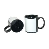 แก้วสีดำแซมขาว 11oz (36 ใบ/ลัง)