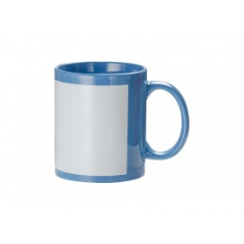 11oz Full Colour Mug w/ White Patch(Light Blue)(36/pack)
