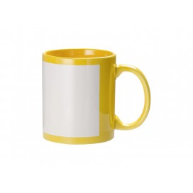11oz Full Colour Mug w/ White Patch(Yellow)(36/pack)