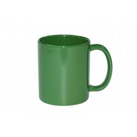 แก้วสีเขียวเต็มใบผิวเคลือบเงาเต็มใบ ขนาด 11oz (36 ใบ/ลัง)