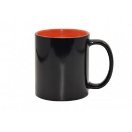 แก้วสีดำเปลี่ยนสีได้ (ข้างในสีส้ม) ขนาด 11 ออนซ์ 48ใบ/แพ็ค