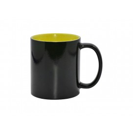แก้วสีดำเปลี่ยนสีได้ (ข้างในสีเหลือง) ขนาด 11 ออนซ์ 48ใบ/แพ็ค