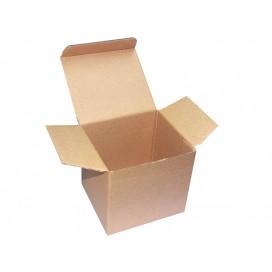 กล่องกระดาษแข็งสีน้ำตาลใส่แก้ว (200 กล่อง/แพ็ค)