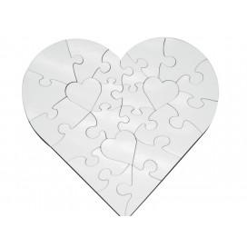 จิ้กซอว์ไม้ MDF รูปหัวใจ