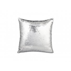 Flip Sequin Pillow Cover(Silver w/ Black)                         (10/pack)