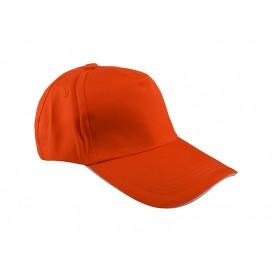 หมวกแค็ปผ้า Cotton สีส้ม  10 ใบ/แพ็ค