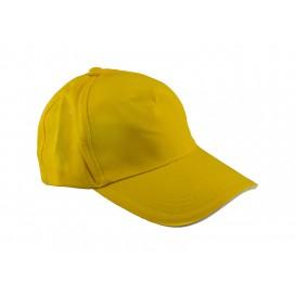 หมวกแค็ปผ้า Cotton สีเหลือง  10 ใบ/แพ็ค