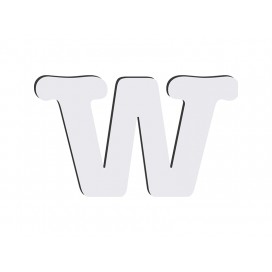 Sublimation HB Letters -W (10*10cm)(36/pack)