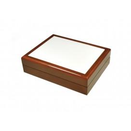 กล่องใส่เครื่องประดับ เซรามิค ขนาด 6*8 สีน้ำตาล (10 อัน/แพ็ค)