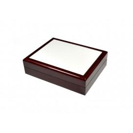 กล่องใส่เครื่องประดับ เซรามิค ขนาด 6*8 สีน้ำตาลแดง(10 อัน/แพ็ค)